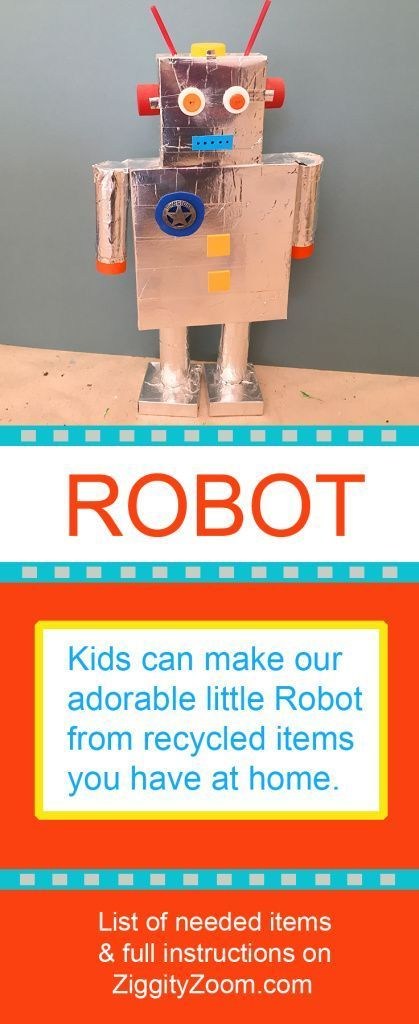 Photo of Recycled robot –  Diy robot –  Kids robot project –  Robots for kids –  Robot craft –  Diy recycled