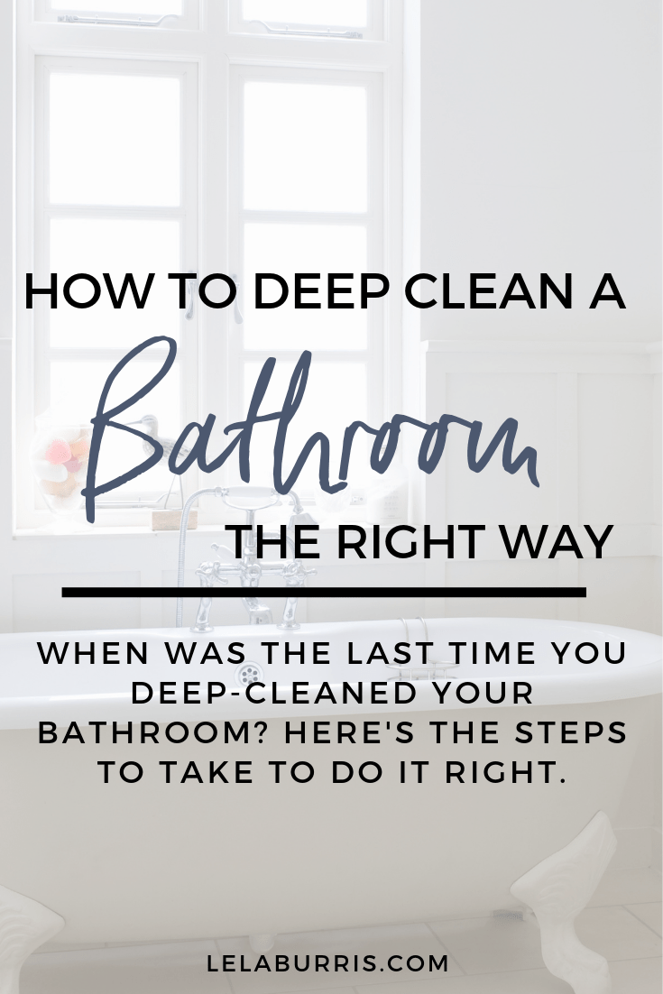How To Deep Clean A Bathroom In 2020 Deep Cleaning Deep Clean Bathroom Deep Cleaning Checklist