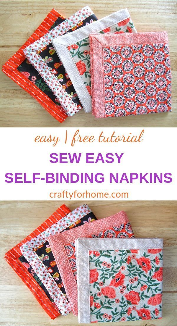 Self Binding Cloth Napkins Tutorial | Easy sewing project on how to make self-binding…