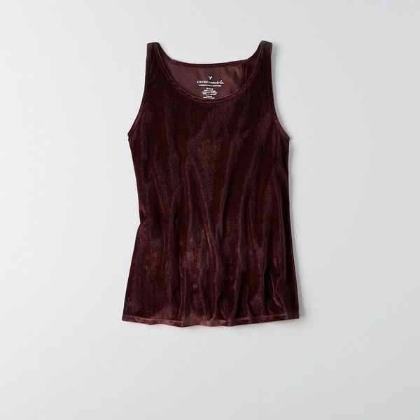 3012b0f247 AE Wrap Back Velvet Tank ( 30) ❤ liked on Polyvore featuring tops ...