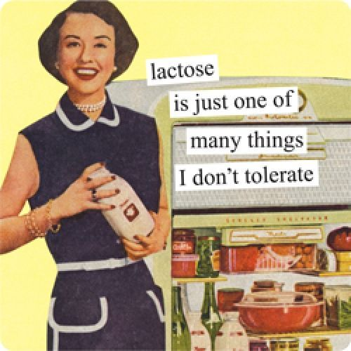 "Or maybe ""I'm lactose intolerant but eat ice cream anyway"""