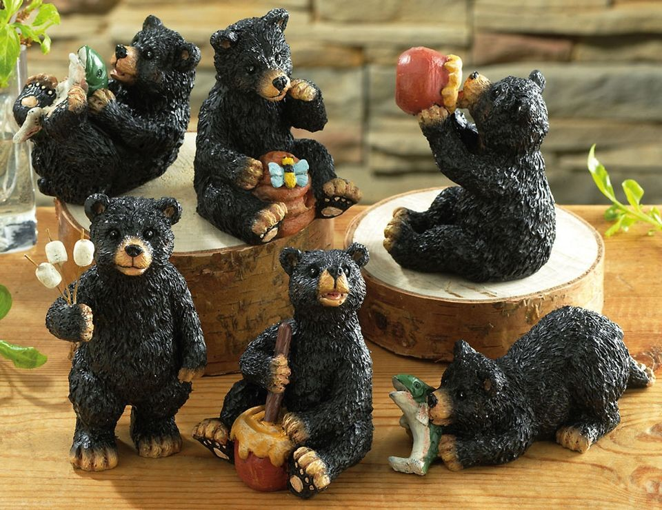 bear kitchen decor | all categories rustic home decor bear ...