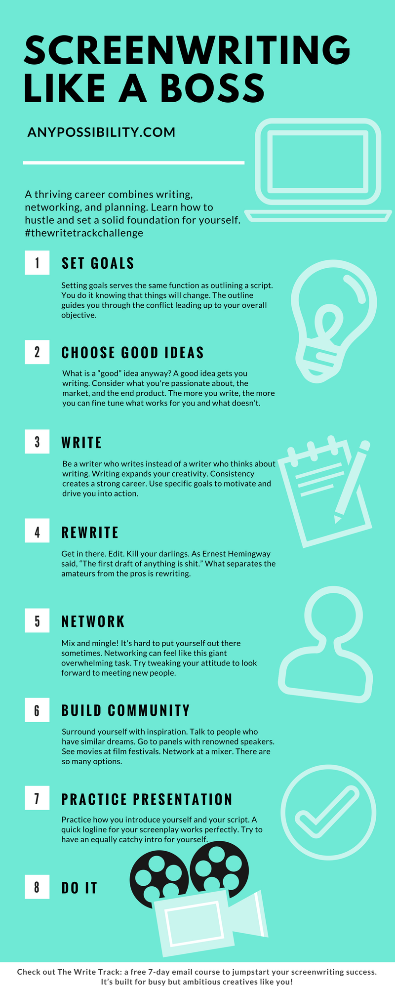 Screenwriting Like A Boss Write Network And Create A Plan Of Action Click Through The Image To Read The Ful Screenwriting Script Writing Screenplay Writing [ 2000 x 800 Pixel ]