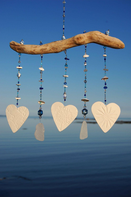 Gl Blue Crystal Beach Wind Chime