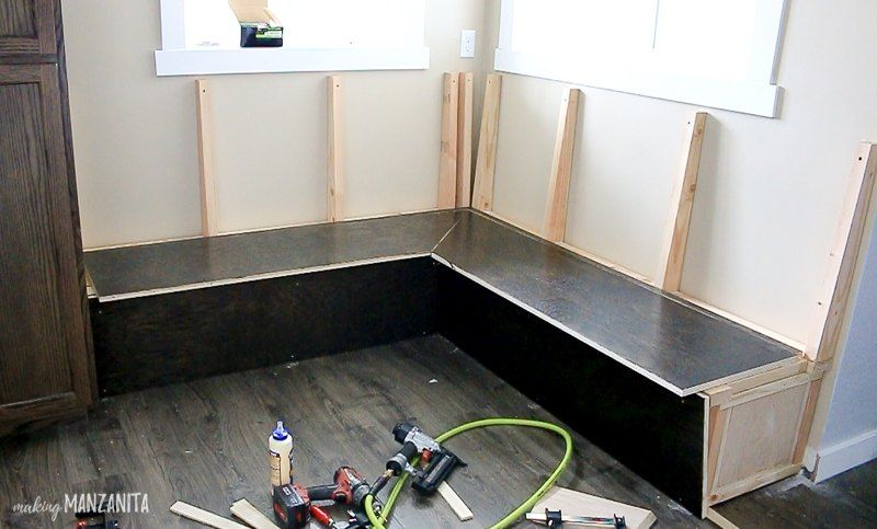 Diy Banquette Bench Booth For Your Kitchen Storage Seating