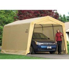 Shelterlogic 10 X 15 Instant Garage Auto Shelter 166 Portable Garage Garage Canopies Instant Garage