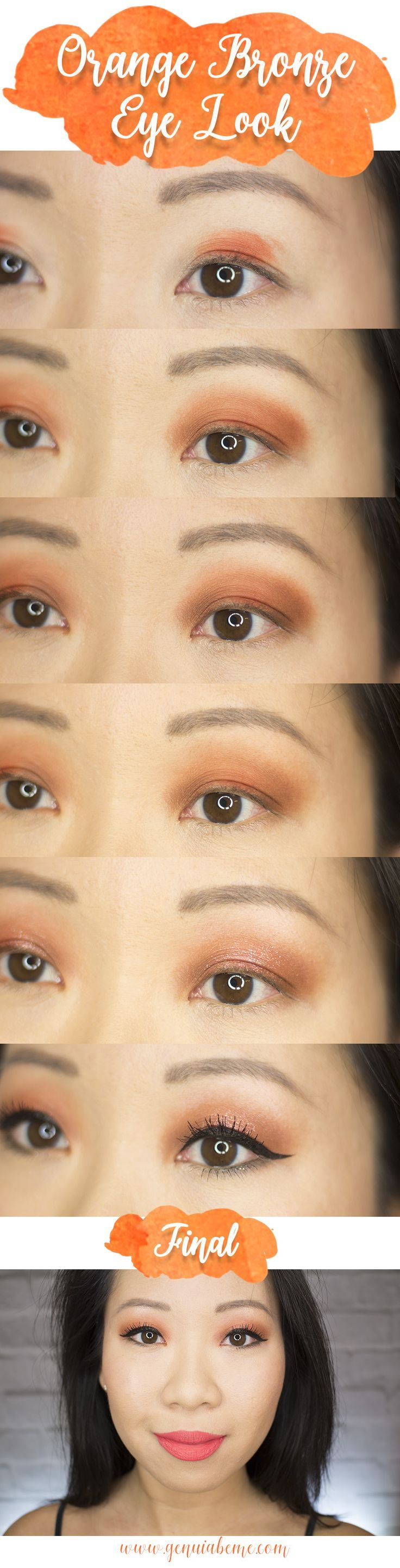 Photo of Orange Bronze Eye Tutorial | geniabeme