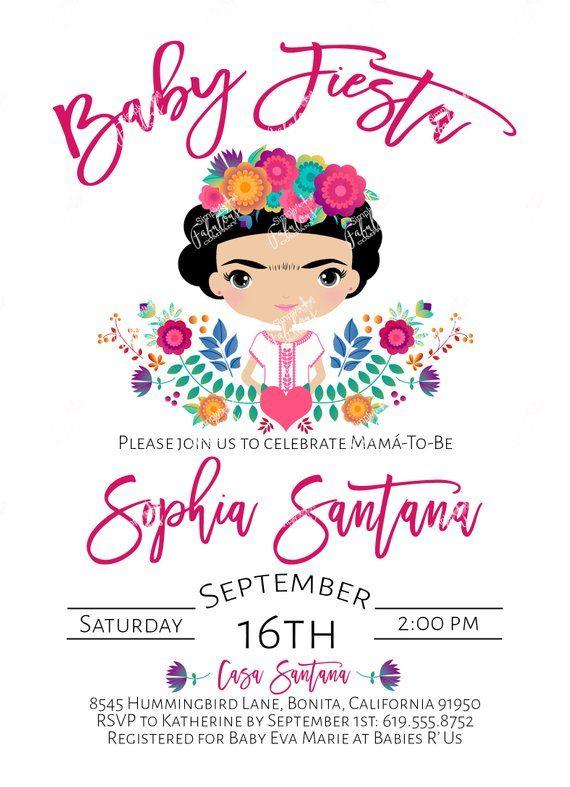 Fiesta Baby Shower Invitation Bundle Fiesta Baby Shower, Diaper Raffle, Books Request, Thank