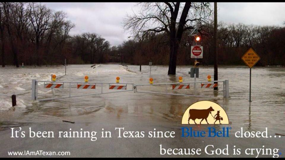 God bless Texas and Blue Bell