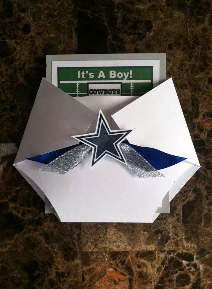 Cowboys Inspired Football Baby Shower Invitation | Football baby ...