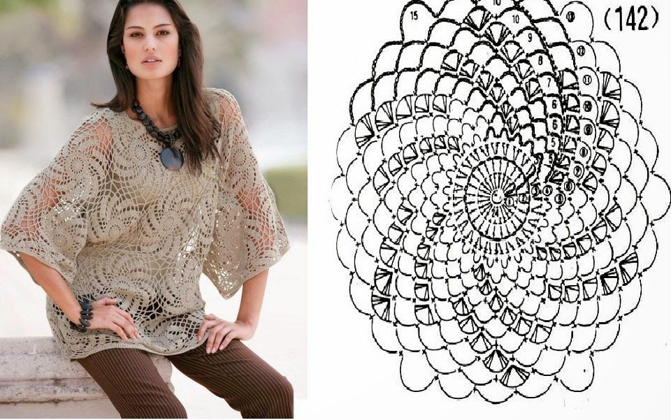 Patrón #327: Blusa de Espirales a Crochet | CTejidas [Crochet y Dos ...