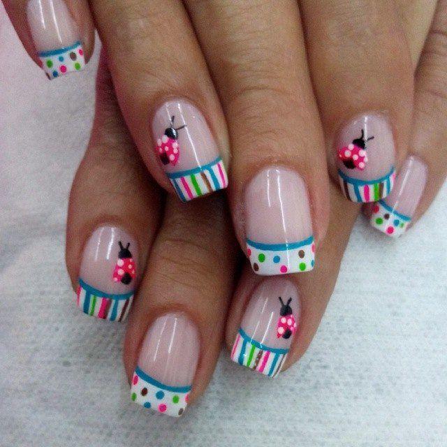 Es un decorado sencillo y fácil de hacer | Diseños de uñas ...