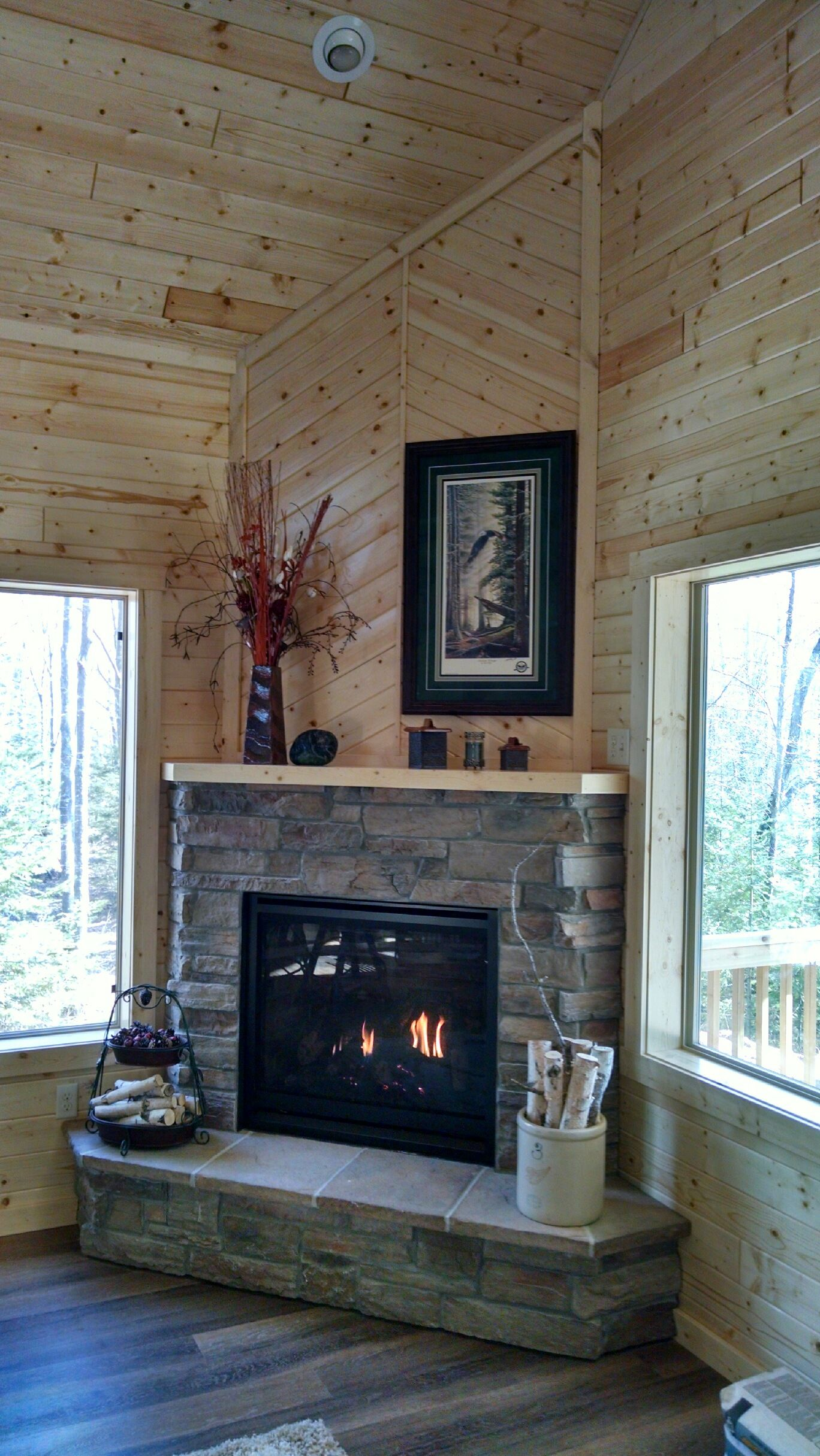 Great American Fireplace Installed This Kozy Heat Corner Gas
