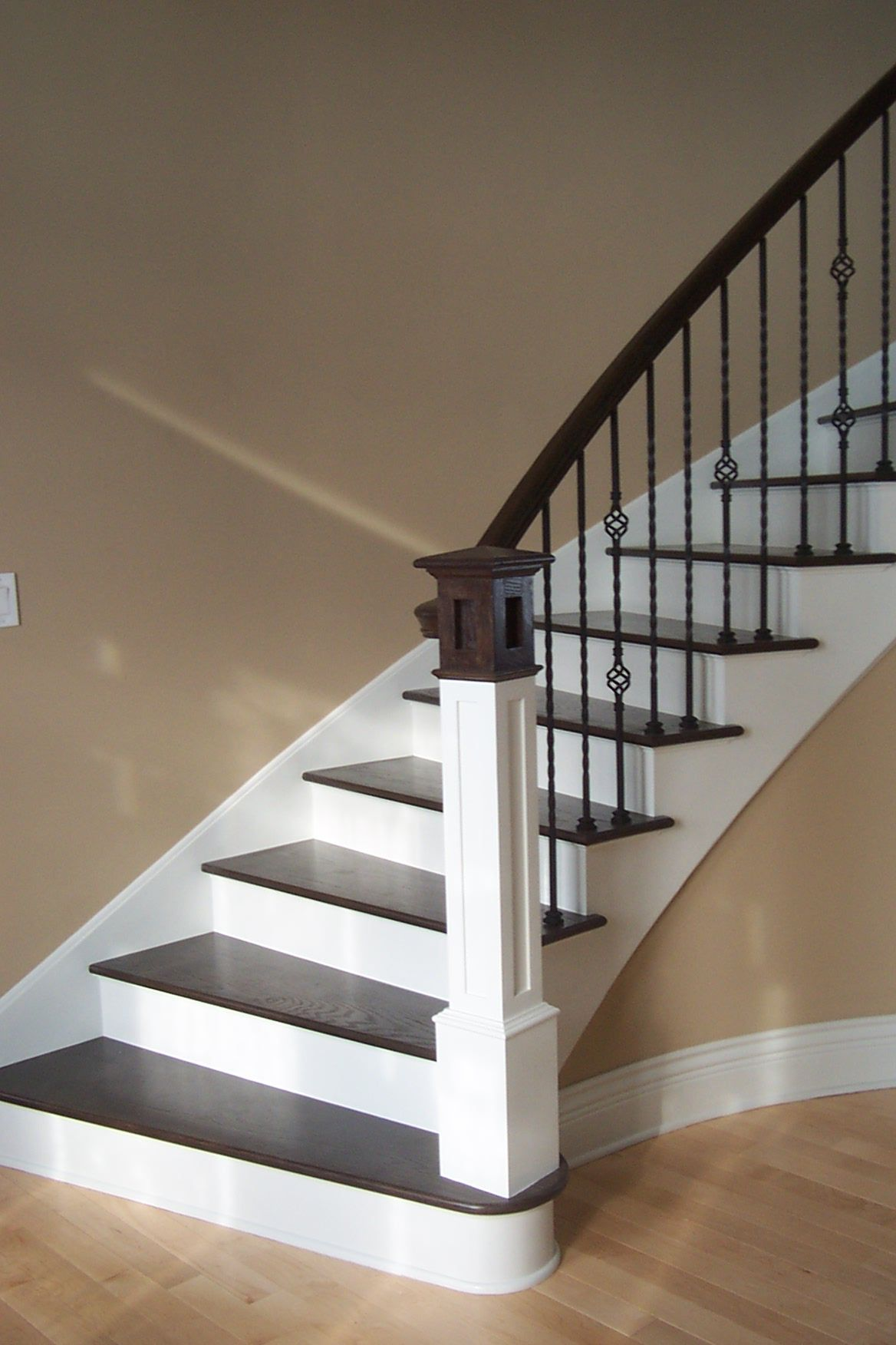 this design was created with twist series balusters the long twist wrought iron stair railingwood