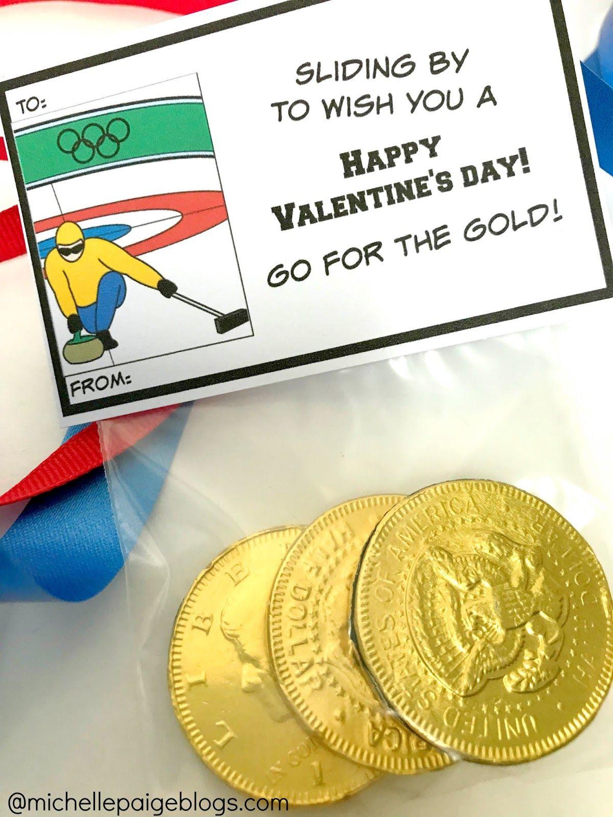 Winter Olympics Printable Valentines