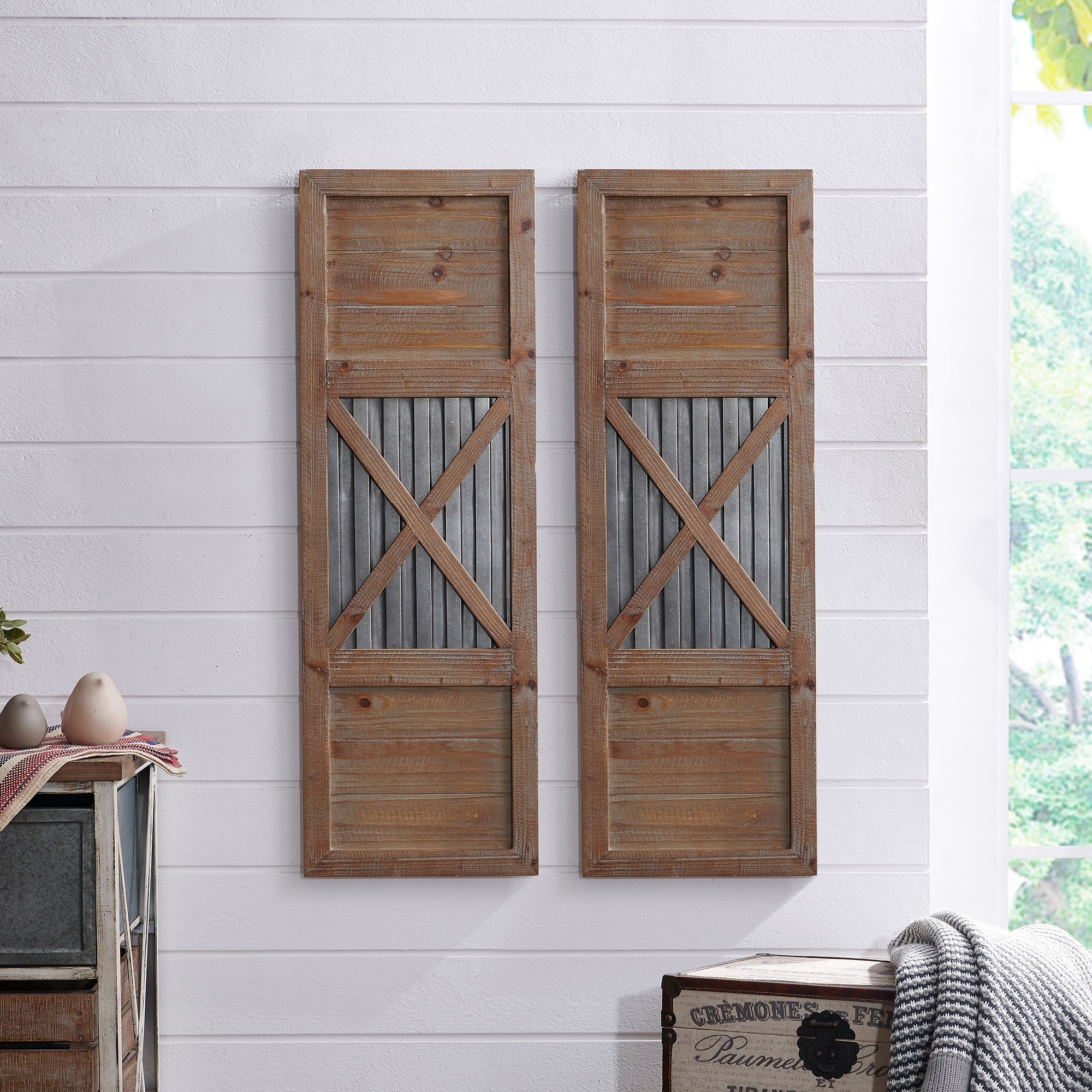 Online Shopping Bedding Furniture Electronics Jewelry Clothing More In 2020 Shutter Wall Shutter Wall Decor Rustic Shutters