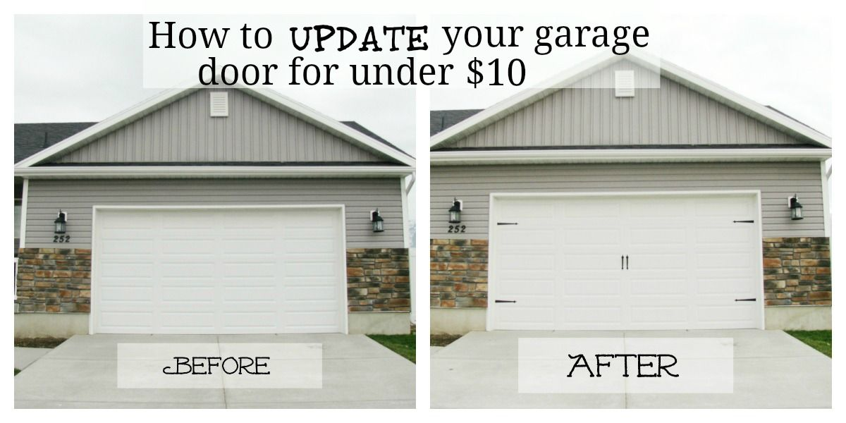 Give Your Garage Door Major Curb Appeal For Under 10 Carriage Style Garage Doors Garage Door Makeover Home Remodeling