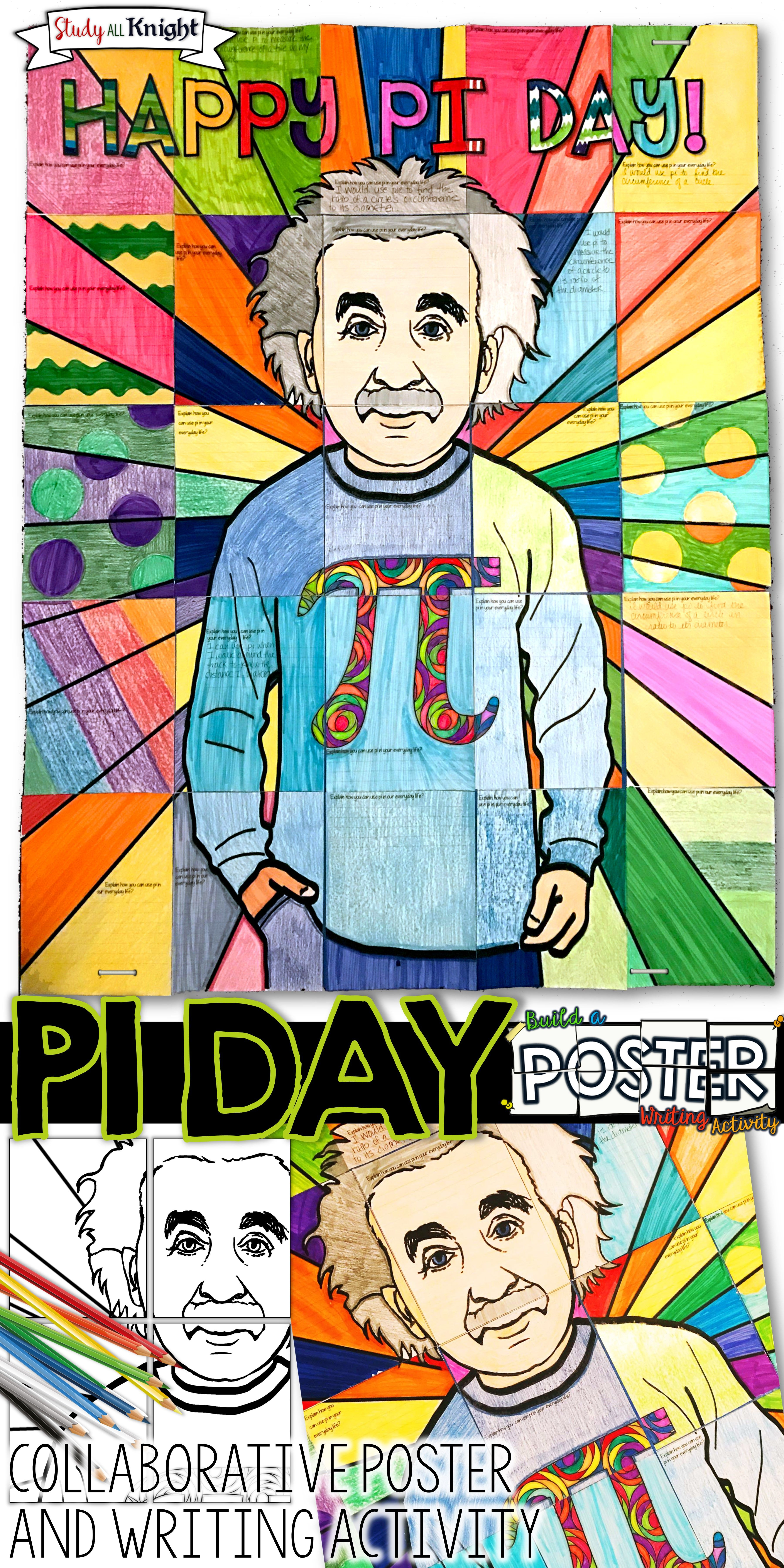 Pi Day Activity Collaborative Poster With Writing Prompt Writing Activities Pi Day Shirts Writing Prompts [ 7200 x 3600 Pixel ]