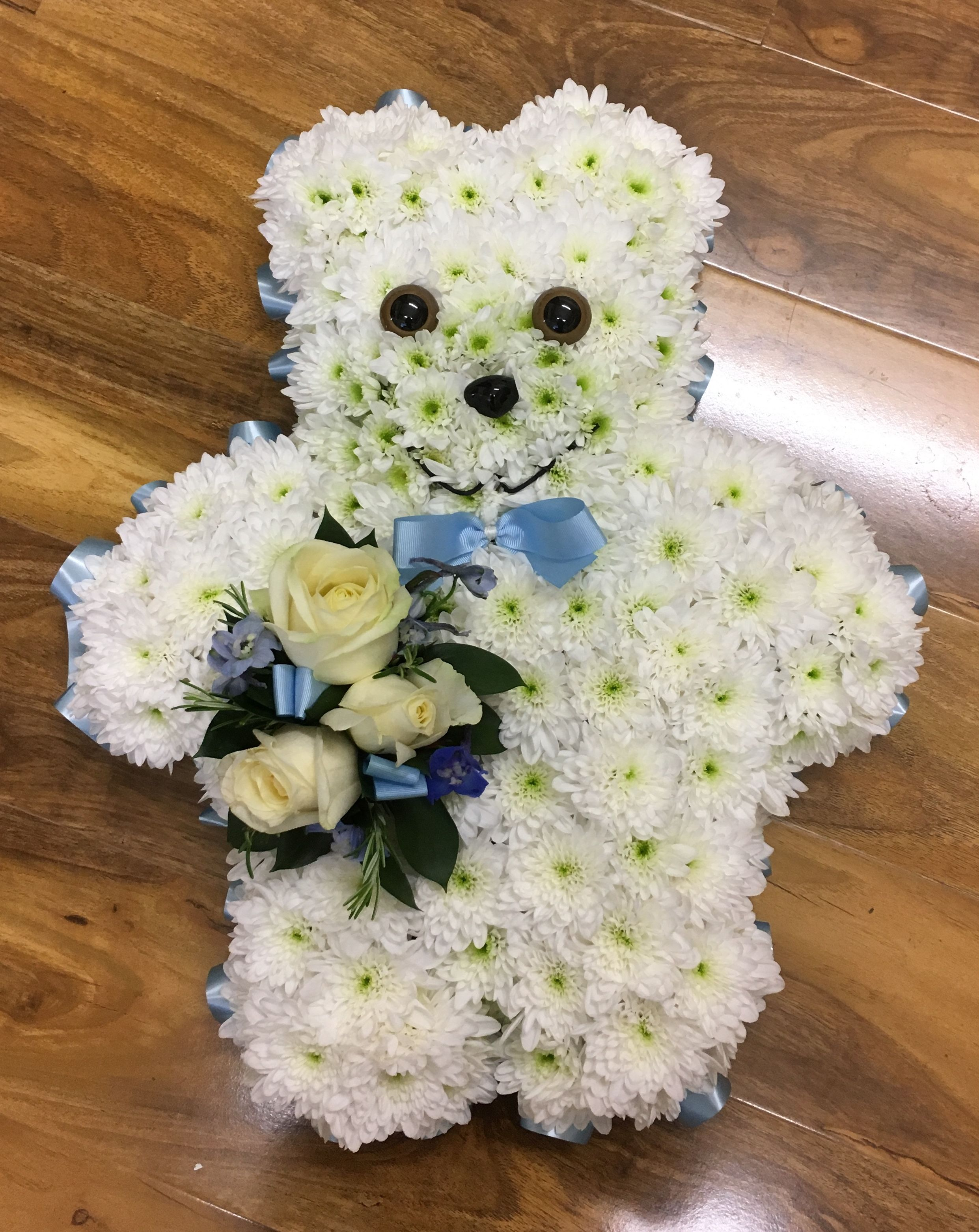 Bow tie teddy tribute 2d funeral designs pinterest beautiful bow tie teddy tribute izmirmasajfo