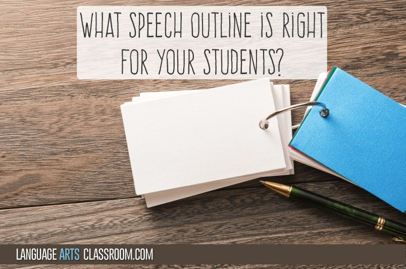 What Speech Outline is Right for Your Students? Students, High - speech outline