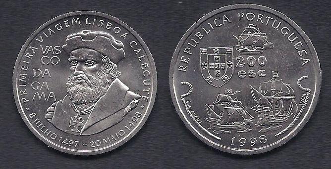 200 Escudos 1999| Vasco da Gama #forsale http://www.kollectbox.com/explore/#/item/profile/56b2acdb00dd8a39163de14a #Marketplace For #Coin #Collectors #escudos #Buycoins #Sellcoins #Coinsforsale #Numismatics #Ancientcoins