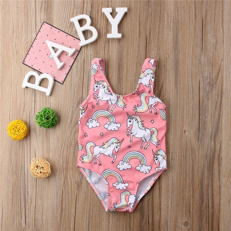 Unicorn One Piece Swimsuit Summer Newborn Toddler Baby Kids Girl Swimsuit Swimwear Swimming Bikini Girls Bathing Suit Beachwear