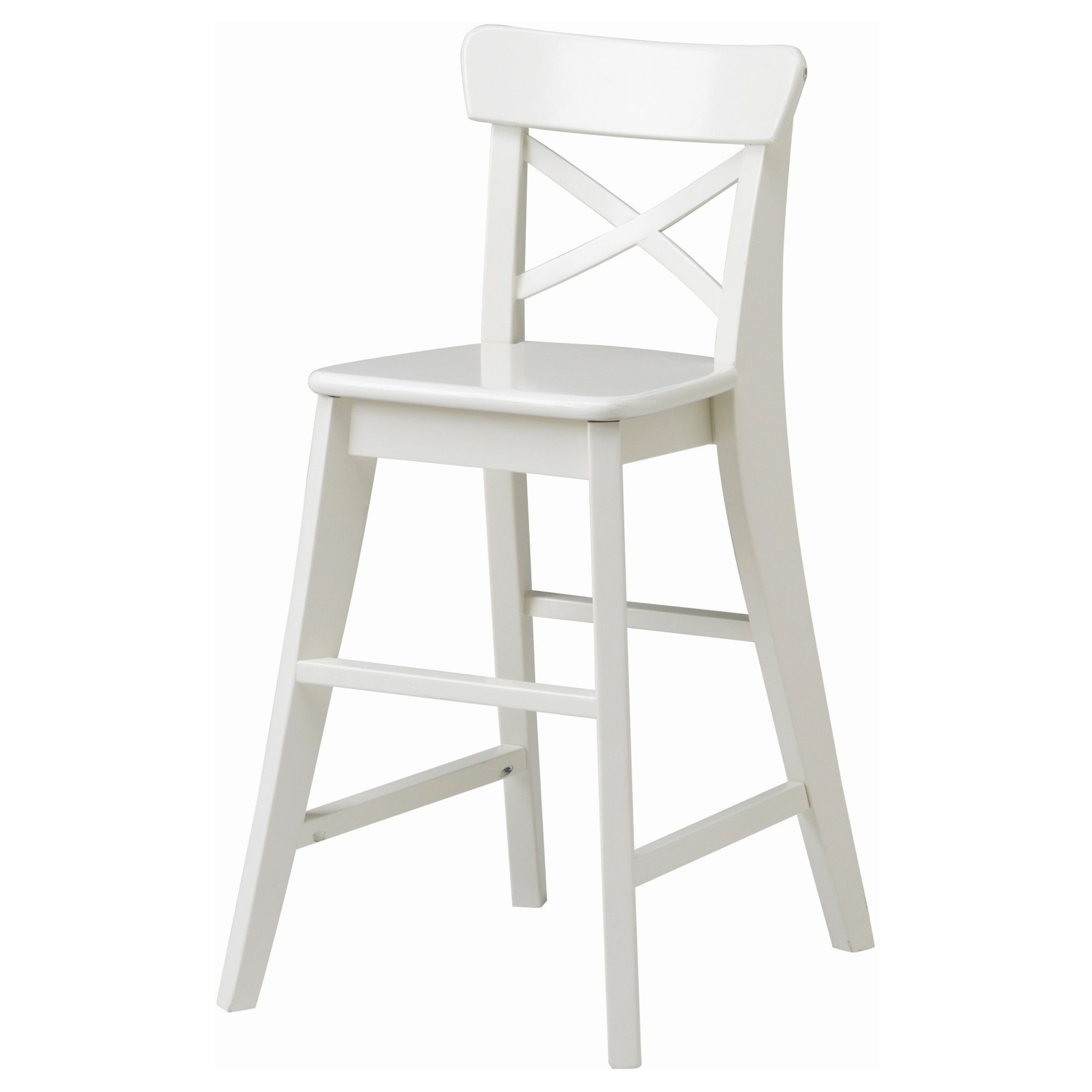 IKEA INGOLF junior chair Gives the right seat height for the child at the dining table.