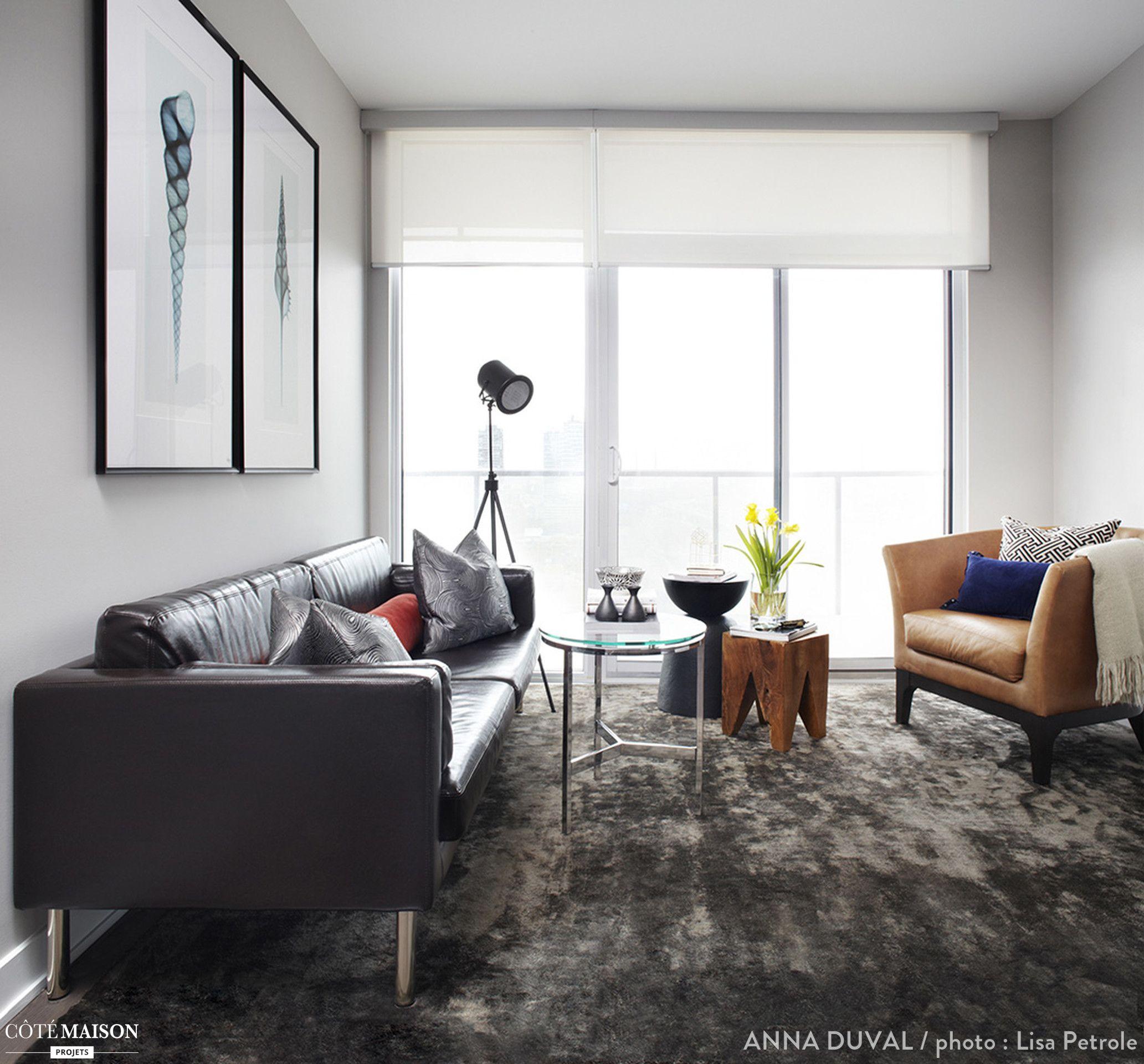 Un salon design pour un jeune couple | Déco salon | Pinterest | Déco ...