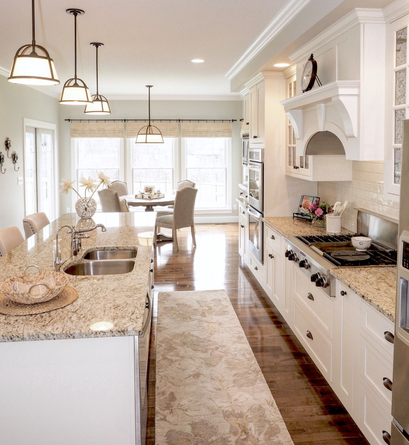 White kitchen with open concept. Sherwin Williams ...