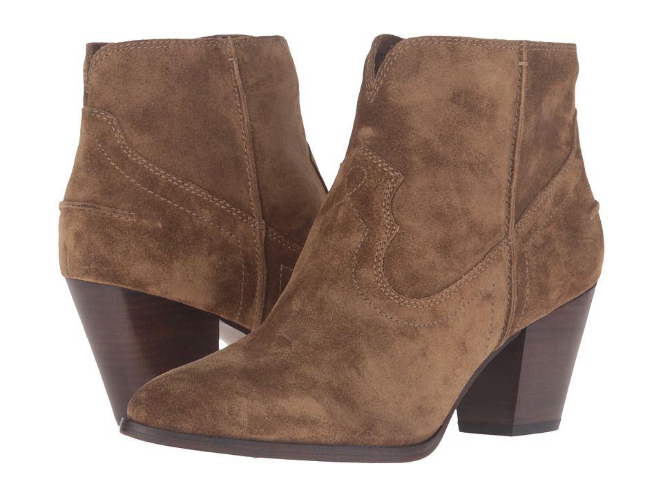 Frye Renee Seam Short Cowboy Boots Cashew