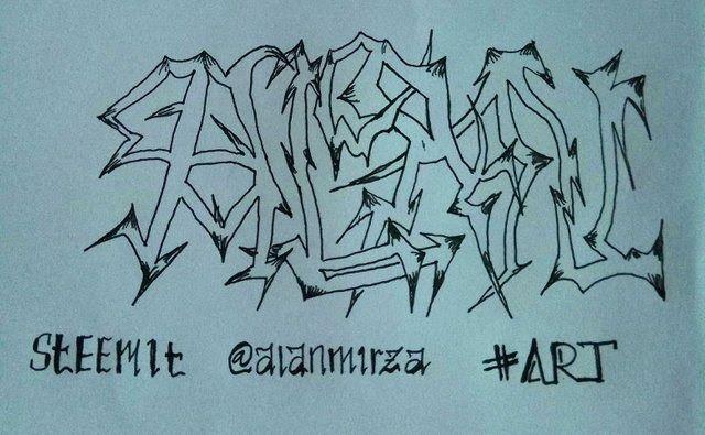 Gambar Tulisan Grafiti Nama Di Kertas Graffiti My Name Alan Bilingual Steemit Kumpulan Gambar Grafiti Keren Tulisan Nama 3d Car Di 2020 Grafiti Gambar Grafit Tulisan