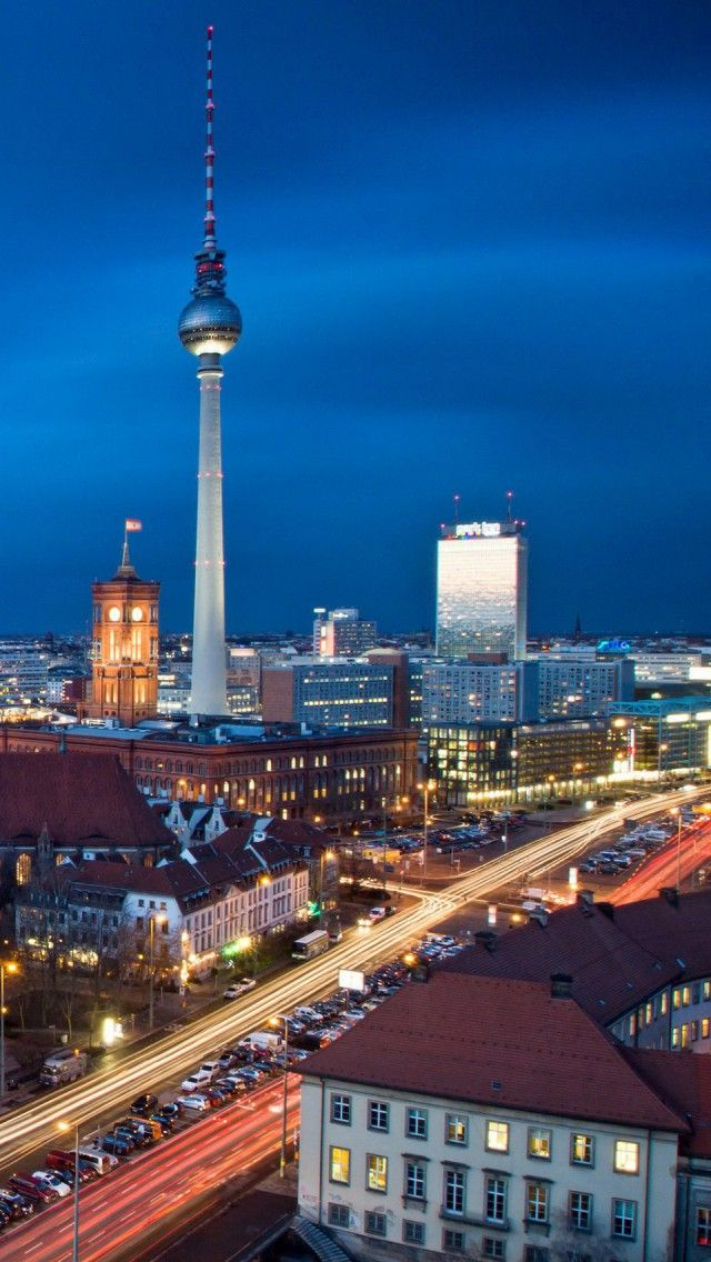 Television Tower Berlin Hd Iphone Wallpapers Places Around The World World Cities Places To Travel
