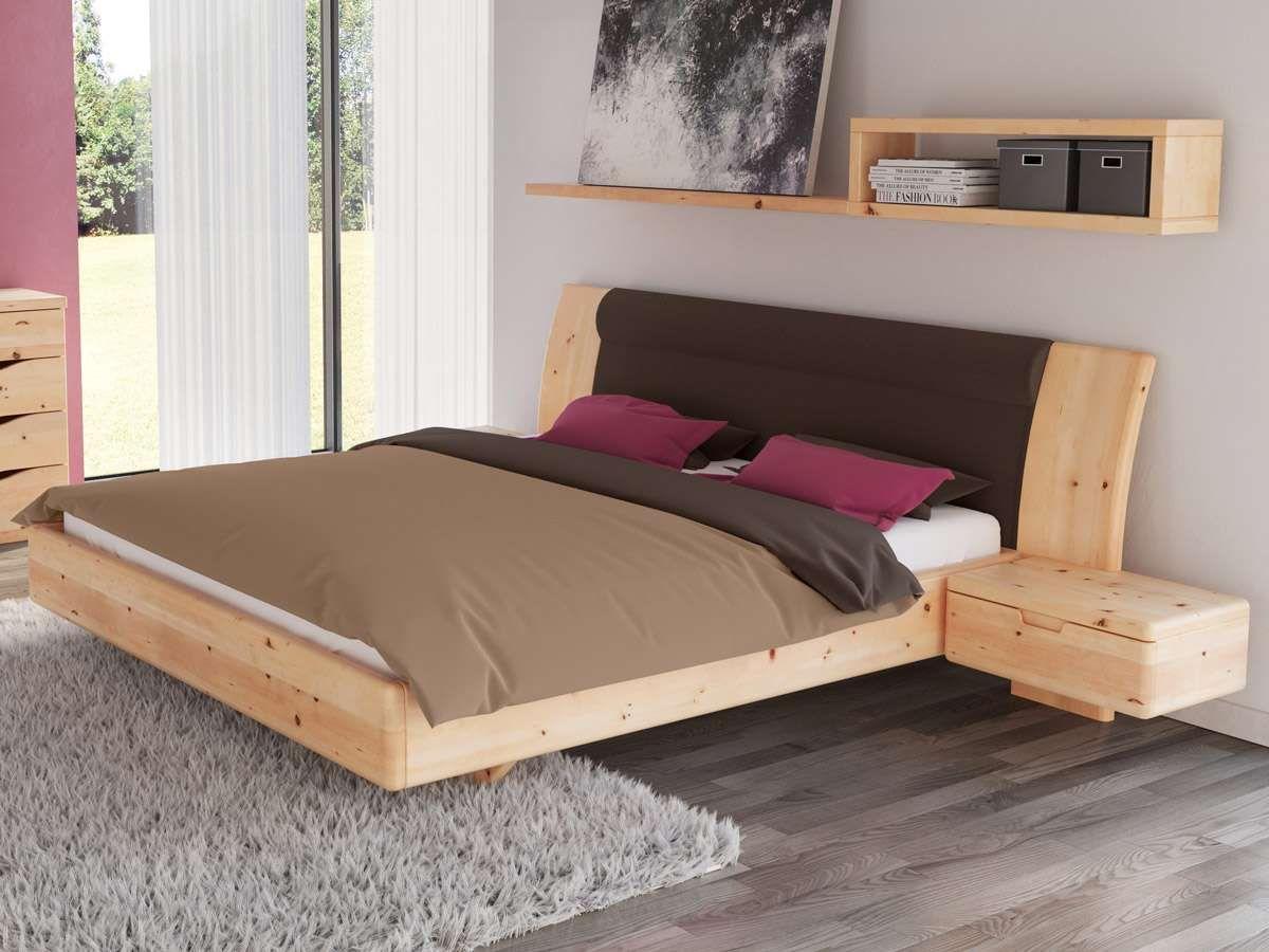 """Schlafzimmer aus Massivholz Zirbe mit Zirbenbett """"Nadine ..."""