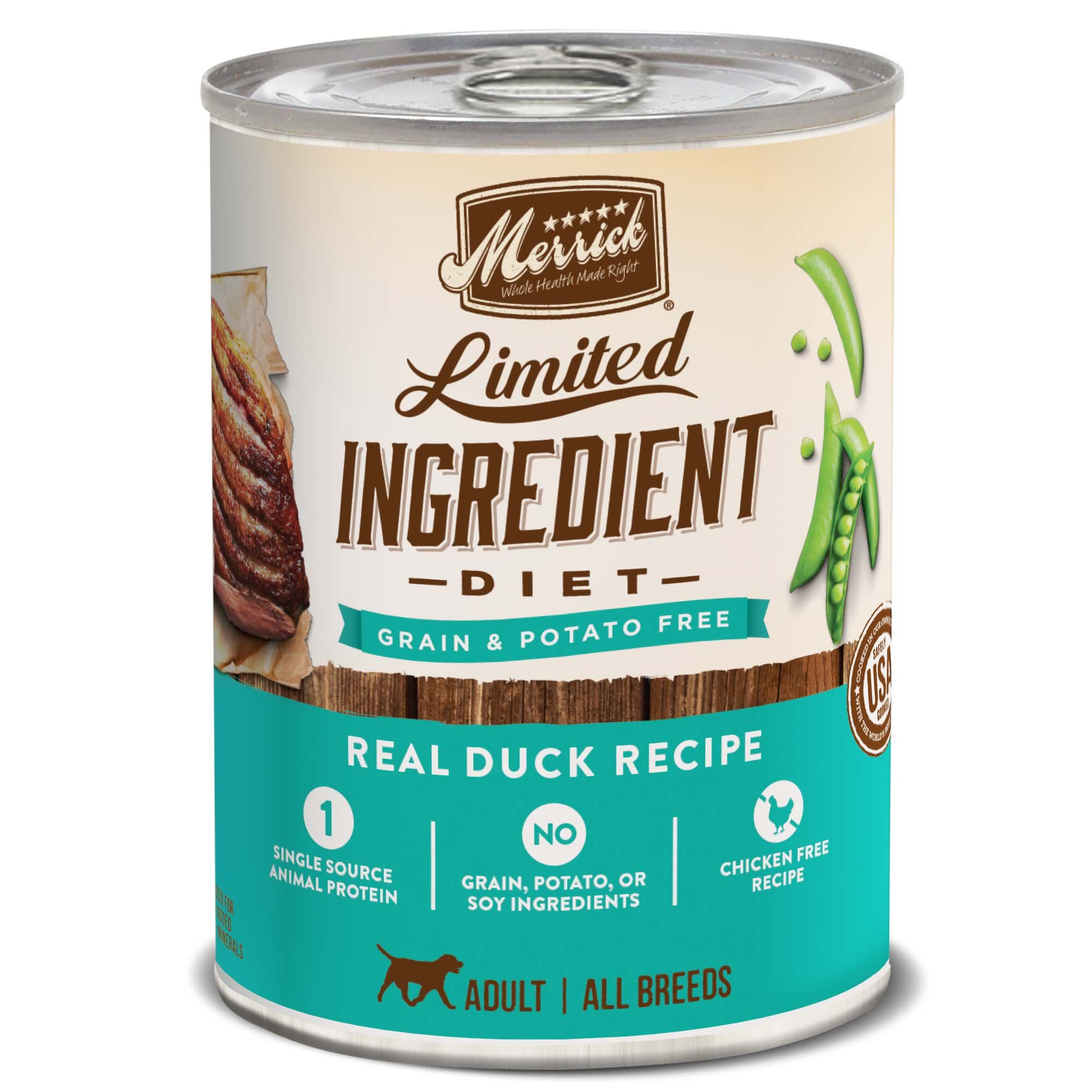 Merrick Limited Ingredient Diet Grain Free Real Duck Canned Dog