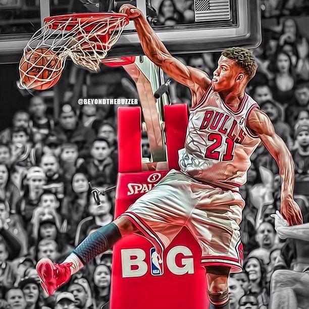 Jimmy Butler Power Dunk Bulls Basketball Nba Chicago Bulls Chicago Bulls