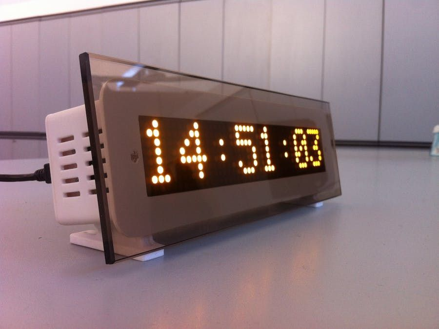 Edot Arduino Based Precision Clock And Weather Station Clock Weather Station Arduino