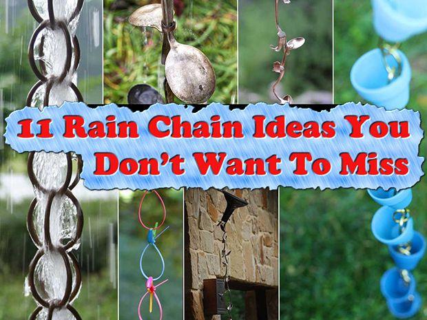 11 Rain Chain Ideas You Dont Want