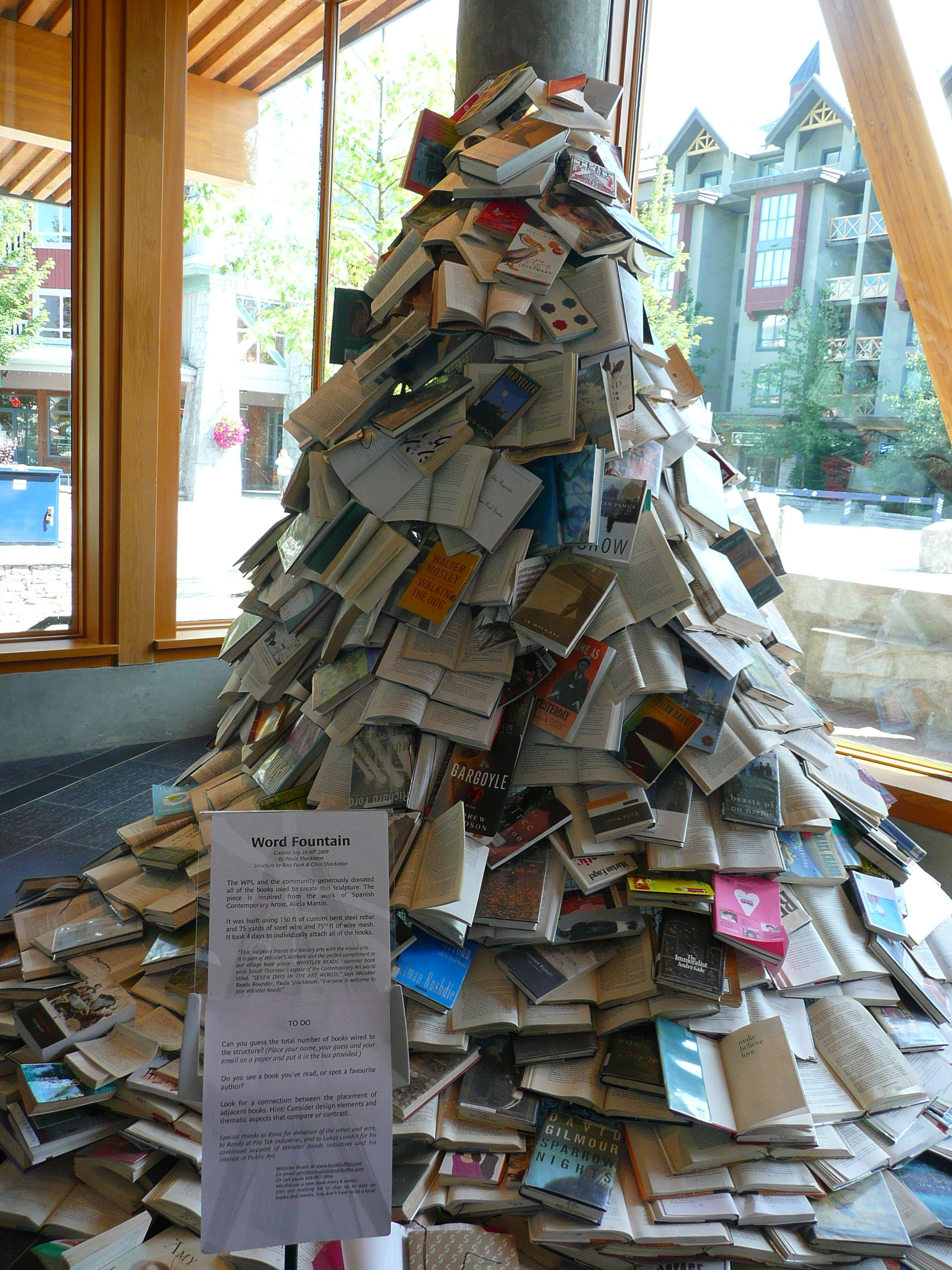 Word Fountain Whistler Public Library Canada With Images Enough Book Wedding Decorations Bookstore