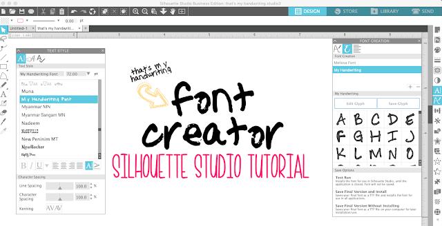 Silhouette Studio Font Creator Beginners Tutorial (V4.2 Feature)