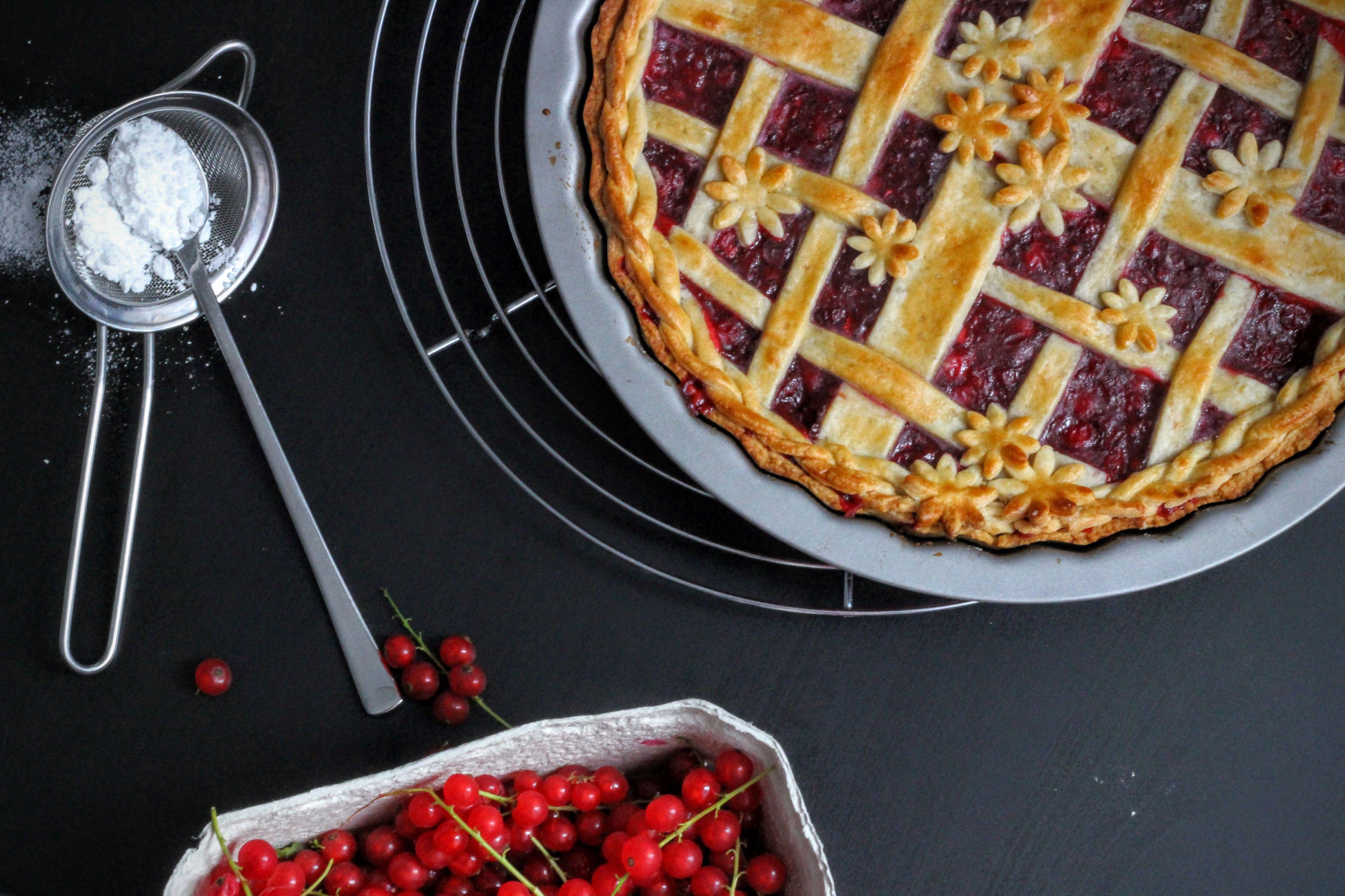 Sommerlicher Johannisbeer Pie