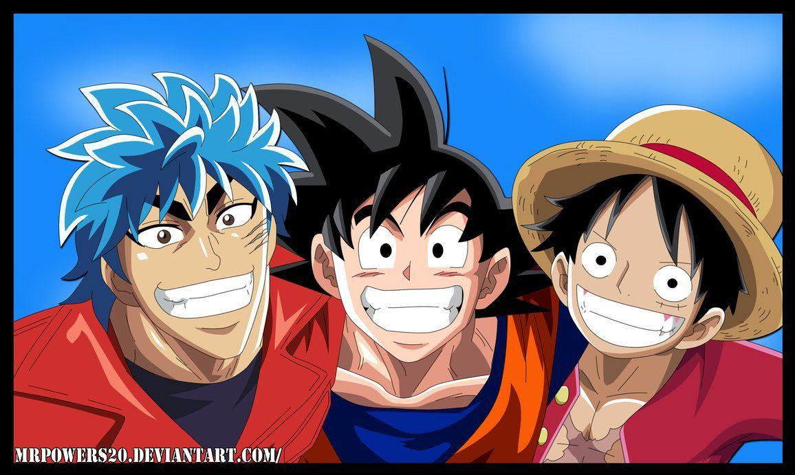 Toriko x Goku x Luffy by MrPowers20 Anime, Anime guys