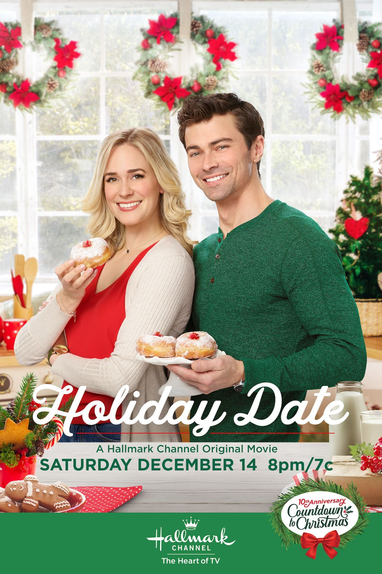 Christmas And Hanukkah Are Honored Together In Holiday Date Starring Brittany Bristow And Matt Hallmark Christmas Movies Christmas Movies On Tv Holiday Dates