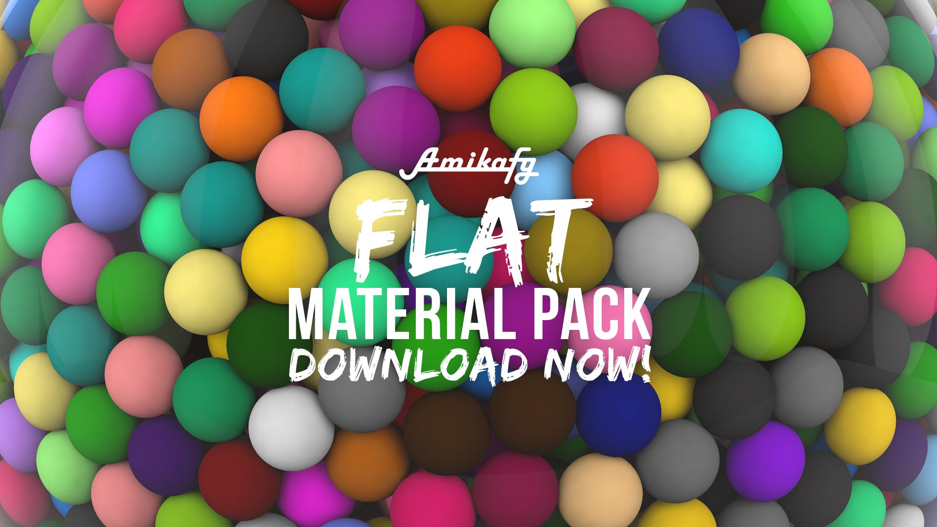 Cinema4D Flat Materials Pack (Free Download) by Amikafy