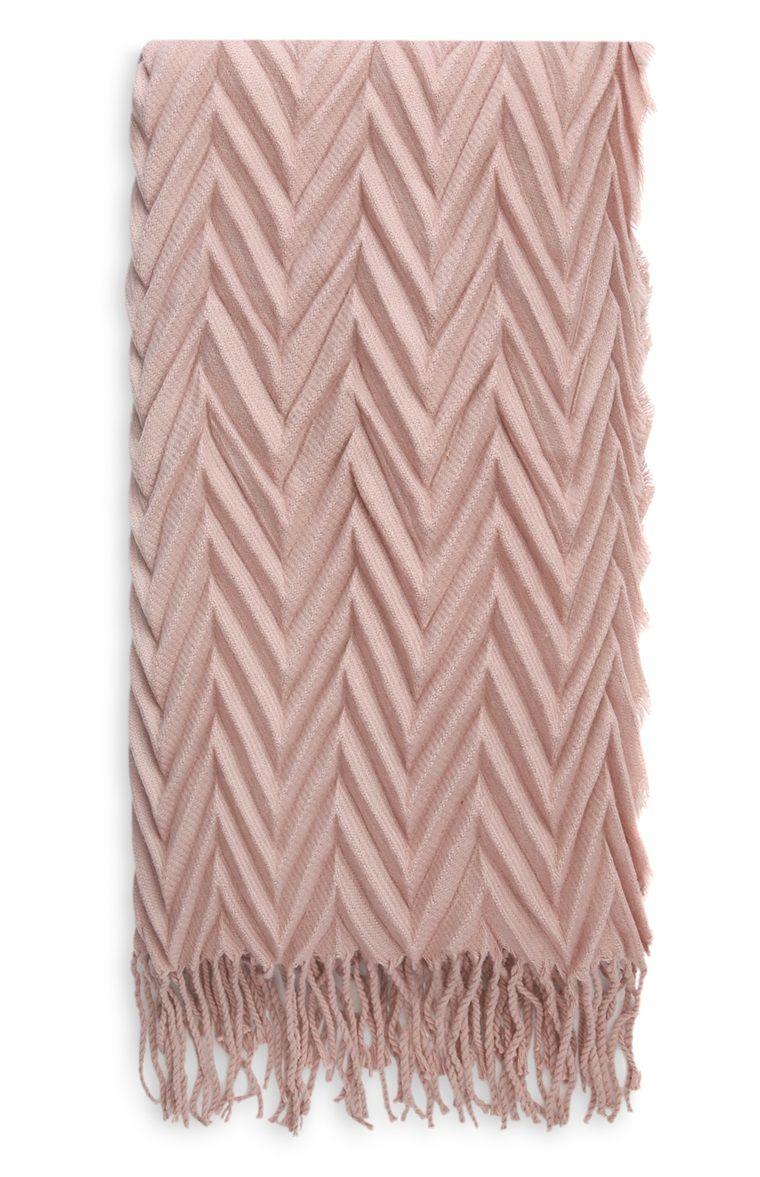 Pañuelo plisado rosa palo  b44e14319cb