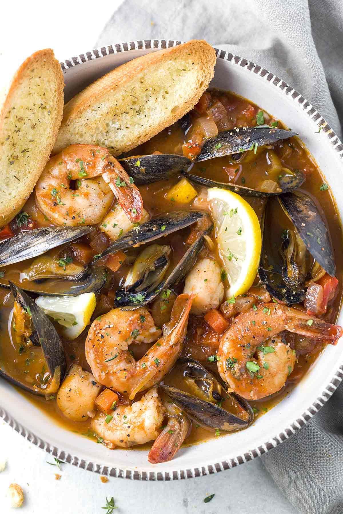 San Francisco Seafood Cioppino #seafoodstew