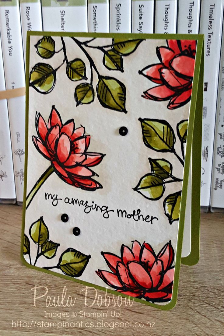 Paula Dobson - Stampinantics.  Remarkable You for Mothers Day.  Happy Mothers Day to all you Mum's out there!  #happymothersday #pauladobson #stampinup