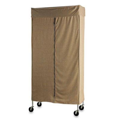 Commercial Grade Garment Rack With Tweed Cover Garment Racks