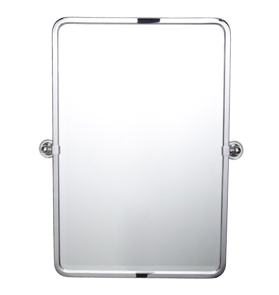Landry Rounded Rectangle Pivot Mirror 24 Tall Polished Chrome C6239