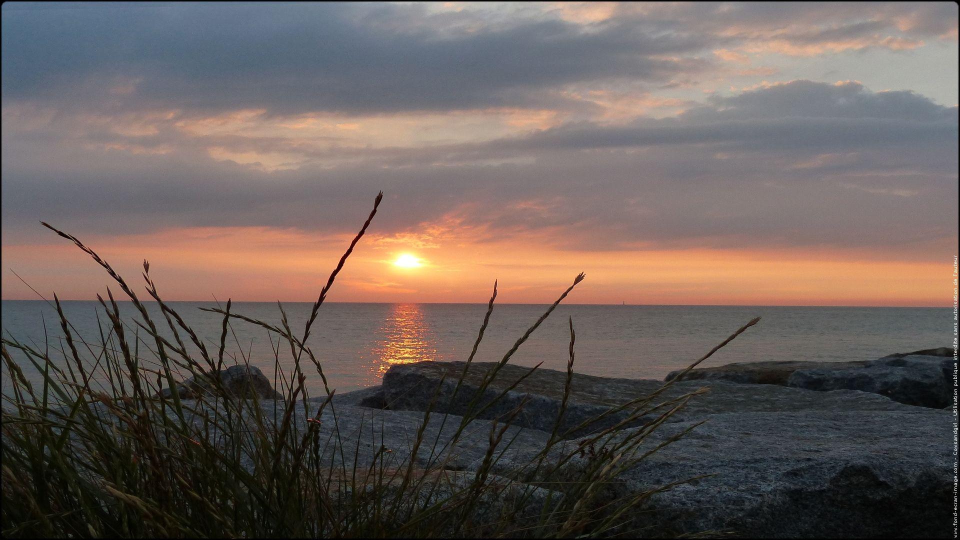Sunshine Mer Sur Fei Coucher De Soleil Paysage Marin Mer Du Nord