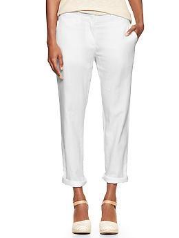 Broken In Straight Linen Pants Gap Linen Pants Cropped Linen Pants White Linen Pants